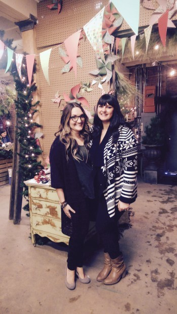 Ashley Green (left) founder of Love Letters 2 Strangers, and Jasmine Franklin (right) founder of #bundleupyeg