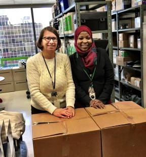 Kristin, Nikky and Marlene collected 15 bags worth of donations throughout the TD Insurance offices downtown in the Oxford building!