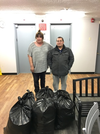 Gina and Mark donated 6 bags.