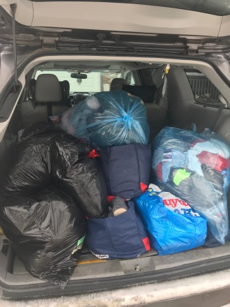 A load of donations on their way to an Edmonton homeless shelter