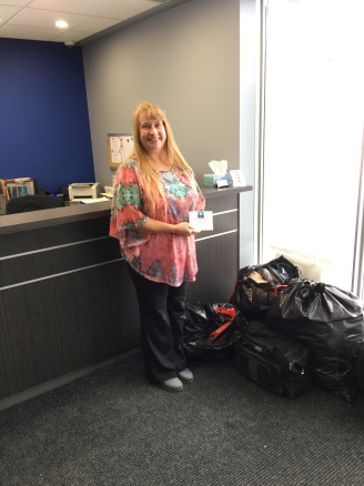 Dena from White Knight Construction collected seven bags!